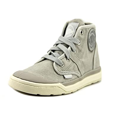 palladium kids unisex pallarue hi zip cvs little kid lunar rock
