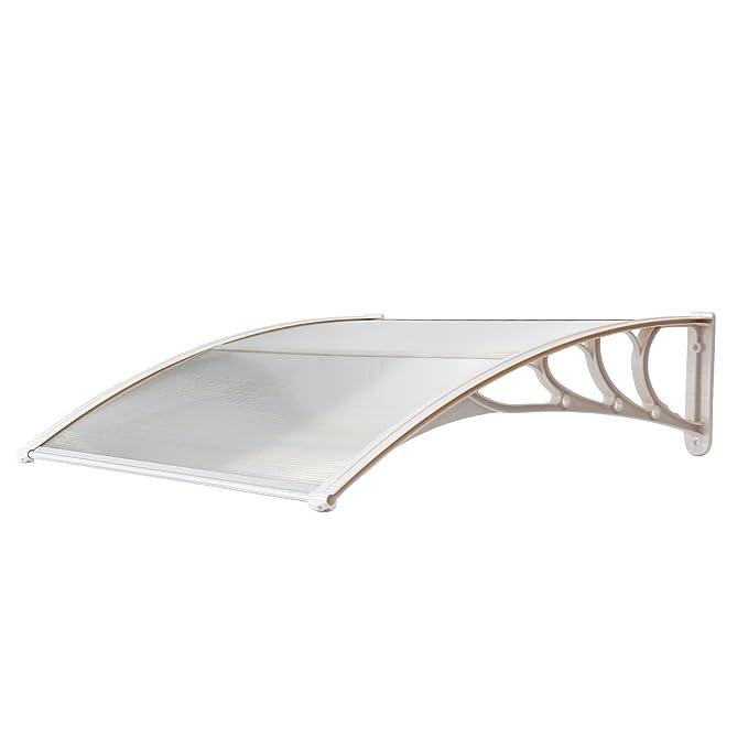 Aluminium und Transparent Kunststoff Grau 100x150cm HENGMEI Vordach Haust/ür /Überdachung Haust/ürvordach Pultvordach T/ürdach Regenschutz