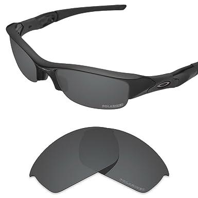 8242ea7669d Tintart Performance Lenses Compatible with Oakley Flak Jacket Polarized  Etched-Carbon Black