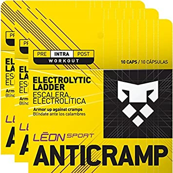 LEON SPORT ANTICRAMP - Salt Tablets and Salt Pills for Runners and Cyclists - Electrolytes Tablets