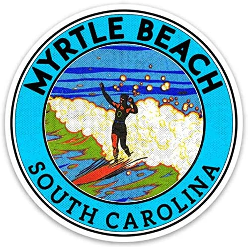 Myrtle Beach South Carolina 3 Vinyl Decal Sticker Surfing Laptop Bumper Luggage