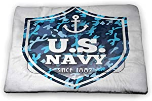 Nomorer Medium Cat Food Mat Anchor for Litter Boxes Military Camouflage with US Navy Since 1882 Uniform Army Force Ship 31