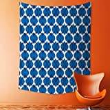 Decor Tapestry Wall Hanging by Collection Ethnic Wild Round Ikat Design Traditional Tribal Exotic Oriental Islamic Art Decor Home Decoration Wall Tapestry Hanging