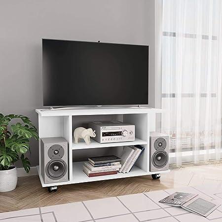 UnfadeMemory - Mueble para televisor con Ruedas y 4 estantes Abiertos para salón: Amazon.es: Hogar