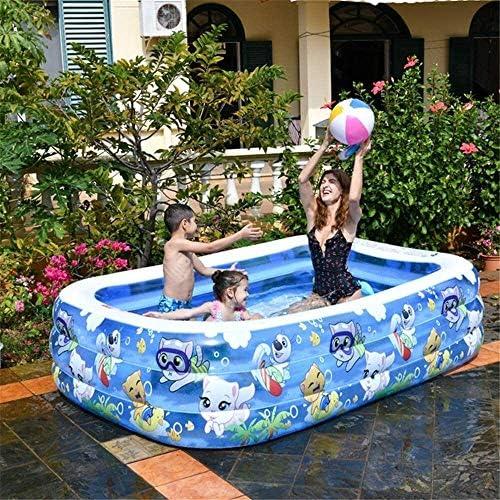 エアーポンプ、長方形、耐摩耗性の太いマリンボールプール付きの庭園、インフレータブルプール、スイミング・プールの成人キッズスイミングプール (Size : 305*183*60cm)