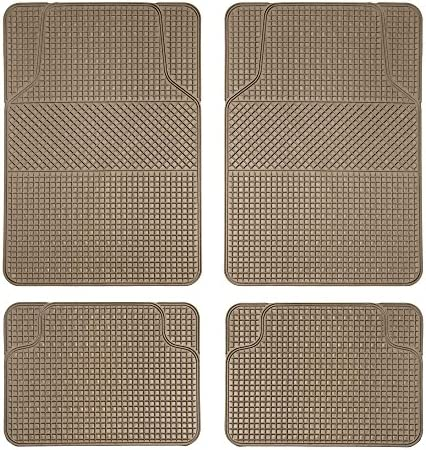 FH Group F11300BEIGE Checker Style Tan All Weather Floor Mat (Anti-Slip)
