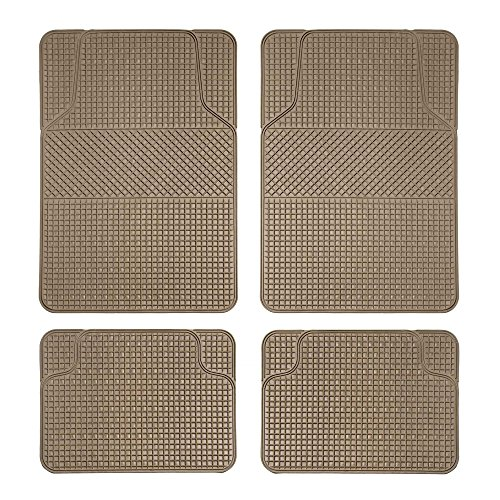 (FH Group F11300BEIGE  Checker Style Tan All Weather Floor Mat)