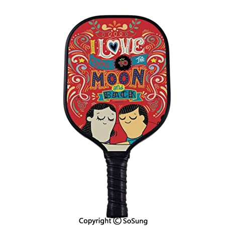 Amazon.com : I Love You Pickleball Paddle, Couple Hugging ...