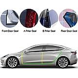 BASENOR Tesla Model 3 Model Y Model S Door Seal Kit Soundproof Rubber Weather Draft Seal Strip Wind Noise Reduction Kit
