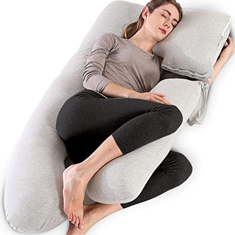 Removable Body Pillows /& Pillowcase for Maternity Pregnancy Sleeping Support