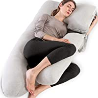 Chilling Home Pregnancy Pillow, 55 inches Full Body Pillow Maternity Pillow for Pregnant Women, Comfort 2 in 1 U Shaped…