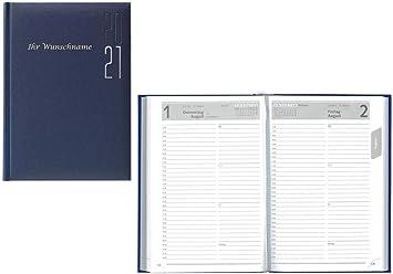 Chefkalender Buchkalender 2021 mit Gravur blau Farbe