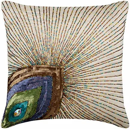 E by design Decorative Pillow Peacock