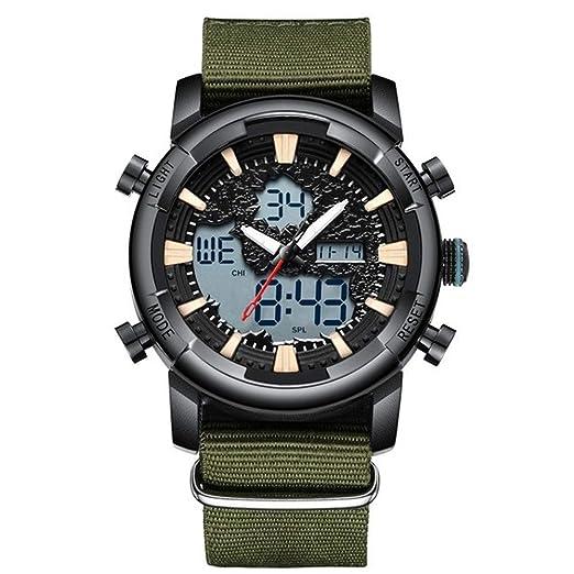 Reloj analógico Digital de Cuarzo para Hombre, Resistente al Agua, Militar, Deportivo,