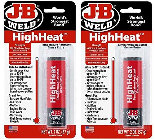 J-B Weld 8297 HighHeat 500 Degree Epoxy Putty-2 -