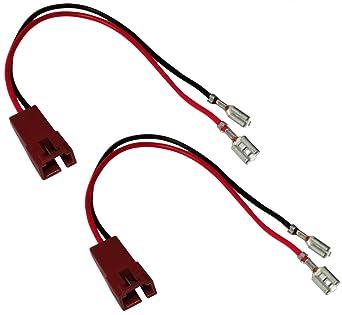 Aerzetix C12041 2 X Lautsprecher Adapter Anschlussstecker Für Auto Gewerbe Industrie Wissenschaft