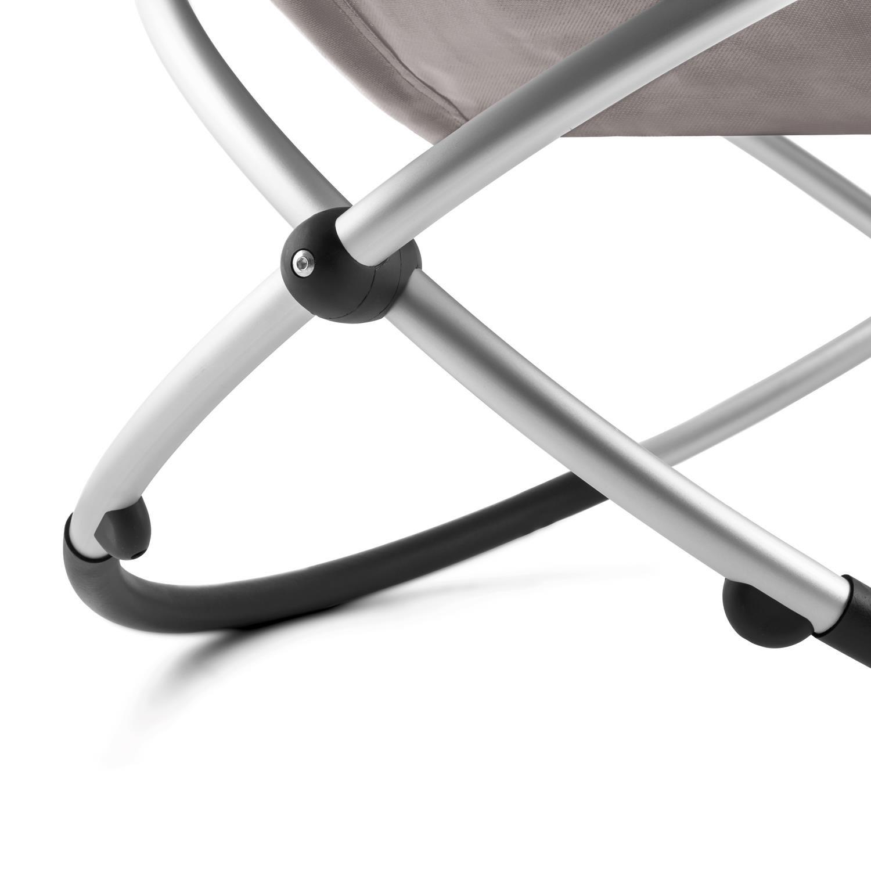 Taupe avec accoudoirs, transat avec Cadre en Aluminium, Effet Bascule et arr/êt s/écurit/é, supporte jusqu/à 180kg Blumfeldt Chilly Billy Chaise Longue de Jardin