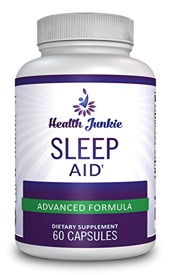 Health Junkie - Natural Sleep Aid Supplement with Melatonin, Magnesium, 5-HTP and More - Non-Habit...