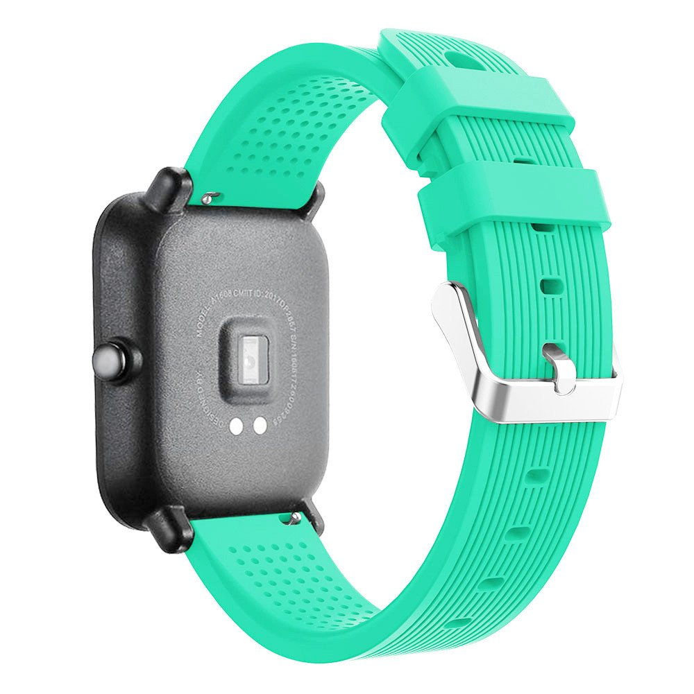 iumei for Huami Amazfit Bip Watch Band, Sport Replacement Soft Silicone Strap Bracelet Bands Wirstband for Huami Amazfit Bip Watch (Mint Green)