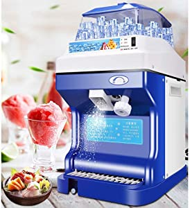 WUAZ 300W Ice Machine Ice Crusher, Easy to Clean Stainless Steel, Snow Cone Machine Snowflake Stainless Steel Food Grade, Suitable for Kitchen Home Bar