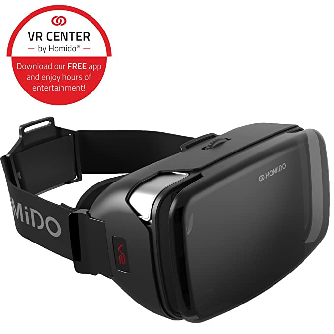 8403e70198ad Amazon.com  VR Headset Homido V2 for iPhone and Android  Cell Phones    Accessories