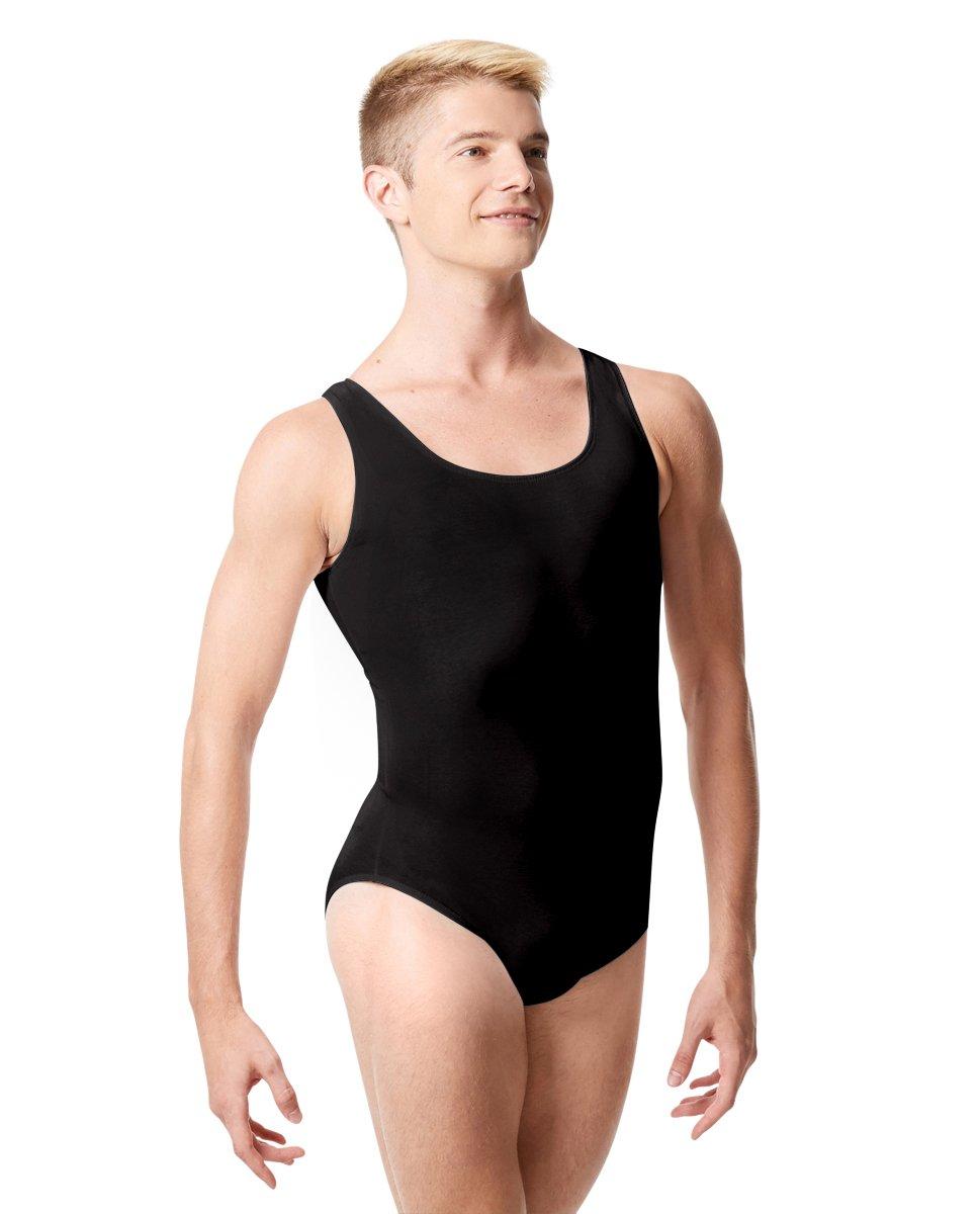 Calla Dancewear mens Tank Leotard Mark L Black by Calla Dancewear