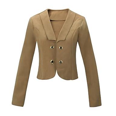 11371 Fashion4Young Damen Feinstrick Jacke Wolljacke Bolero Jacke Strickjacke Kurzer Blazer
