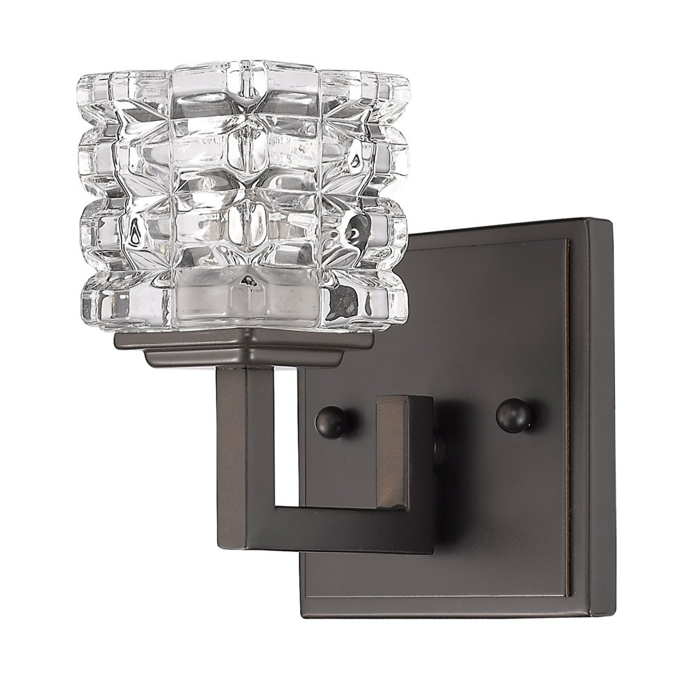 Acclaim Lighting IN41315ORB Coralie Indoor 1-Light Sconce with Crystal Glass Shade Oil Rubbed Bronze