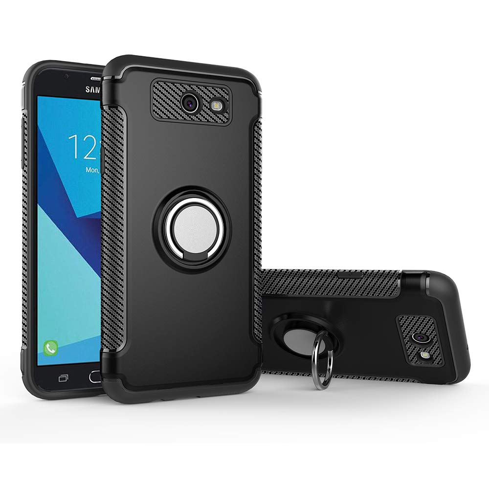 Case for Samsung SM-J327P Galaxy J3 Emerge SM-J327R4 / SM-J327T Galaxy J3  Prime 2017 / SM-J327T1 Case Cover + 360 Degree Rotating Ring Holder