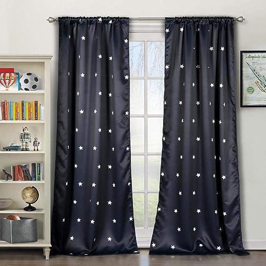 Bash Miranda Metallic Blackout Darkening Window Curtain 2 Panel Lala 37 x 63 Grey Duck River Textile Premium Quality