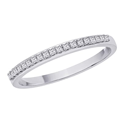 princess anniversary band gold stone bands cut white diamond product gabriel