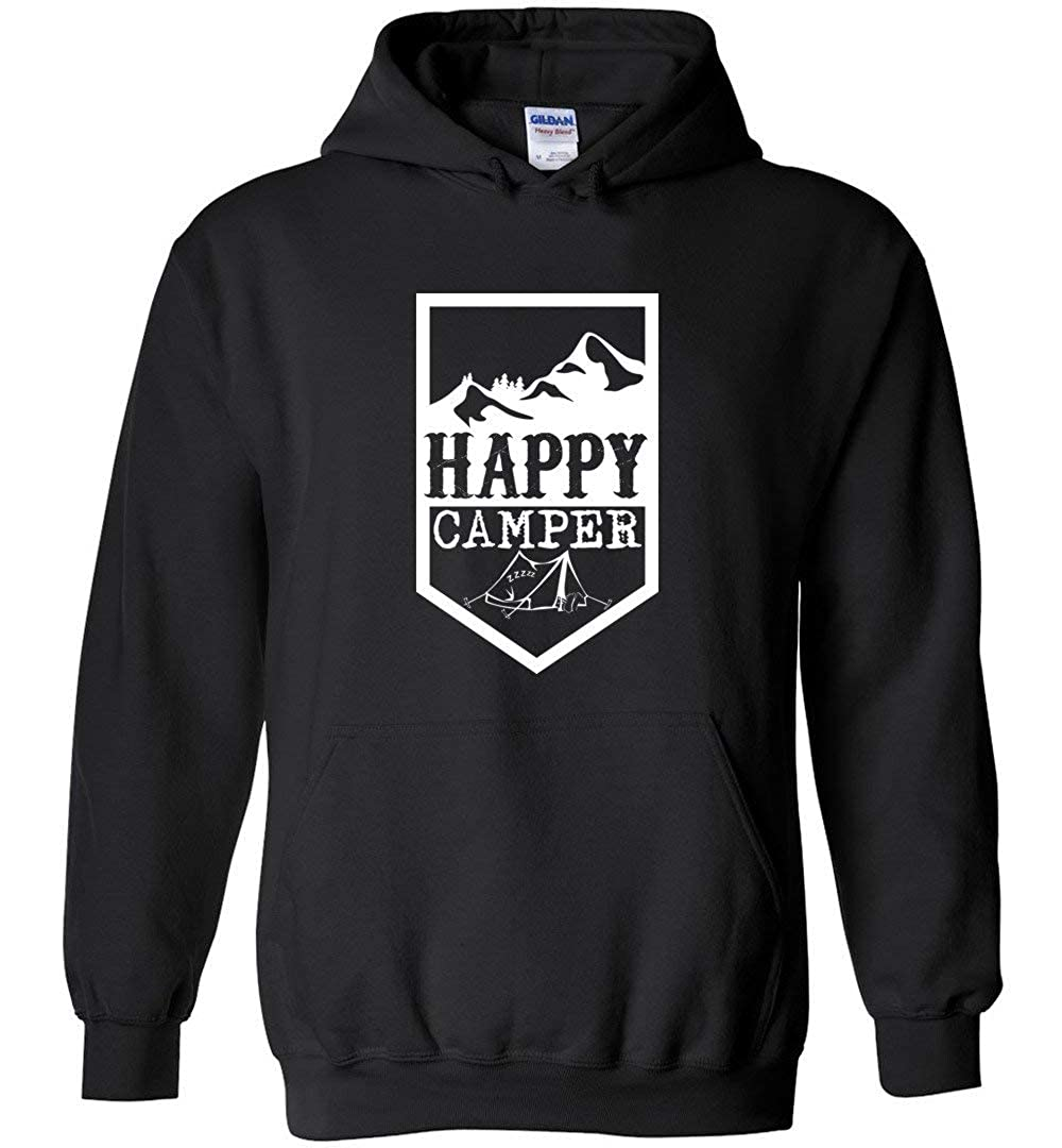 Happy Camper Outdoorsy Camping Shirt Sweatshirt Hoodie