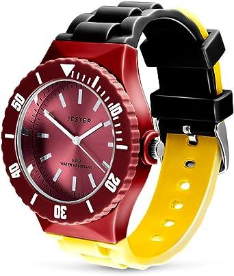 Reloj, Colores de la Bandera Alemana de Alemania, Adulto Unisex ...