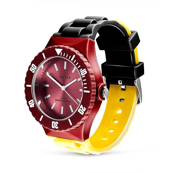 Reloj, colores de la bandera alemana de Alemania, adulto Unisex deportes reloj por Jester