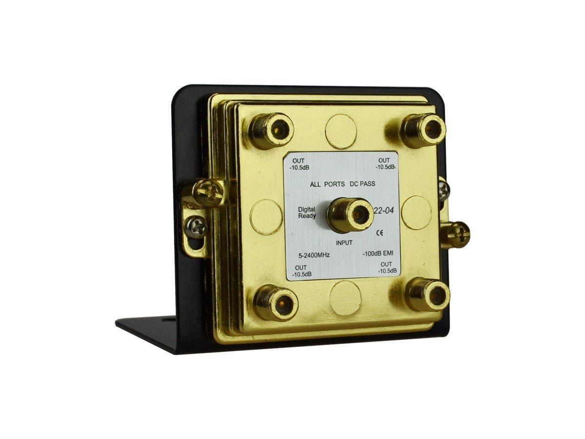 Monoprice 4ウェイスプリッタ2.4 GHz onマウントブラケット B01MR9OCMO