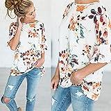Iumer Fashion Women Summer Casual Cotton Blouse Short Sleeve Shirt T-shirt Blouse Top