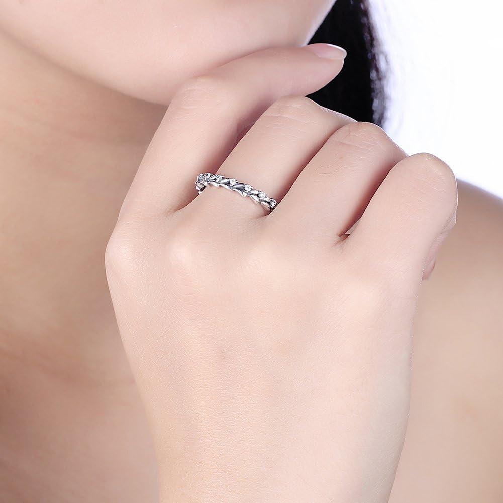 V-MONI S925 Trend Personality Creative Silver Retro Wind Diamond Ring