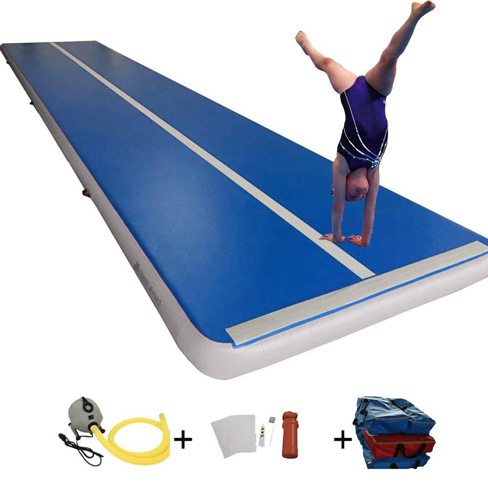 Sinolodo インフレータブル体操 エアタンブルトラック (幅5フィート x 高さ6インチ) インドア&アウトドア使用   ガールズ ボーイズ  BlueGrey B07KYL19GS