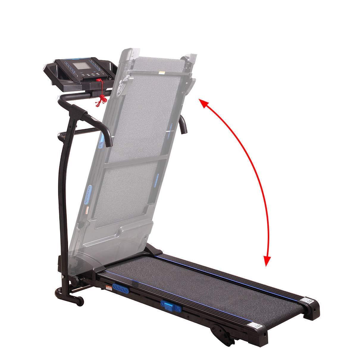 LAZYMOON 1500W Treadmil Running Machine Folding Motorized Home Fitness Machine Black