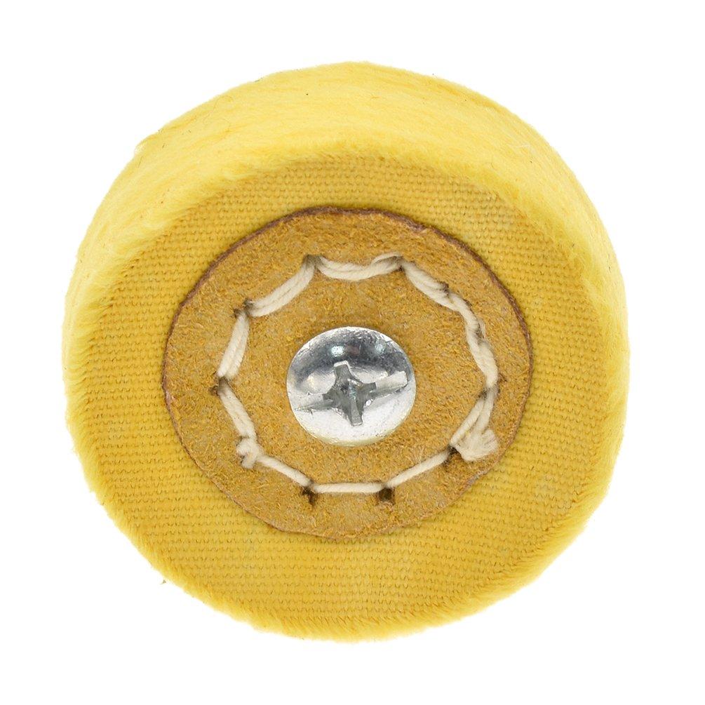 Kesheng Polierscheibe Polieraufsatz Weiß Gelb Stoff für Poliermaschine Zubehör