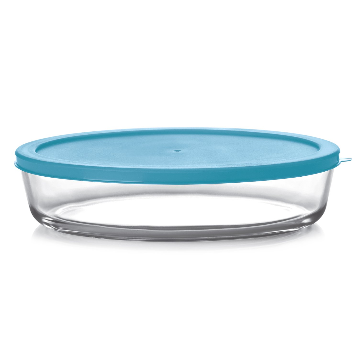 Cello Prego Cosmo Oval Glass Baking Dish with Lid, 1.6 Litres/26.1cm, Clear