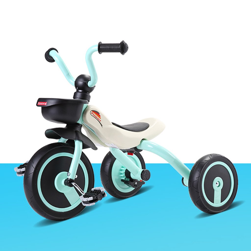 HAIZHEN マウンテンバイク 子供の三輪車2-4歳のチタン空ショックアブソーバホイール赤ちゃんおもちゃ車折り畳み式ベビー自転車63 * 45 * 53cm 新生児 B07DL5G6LN 青 青