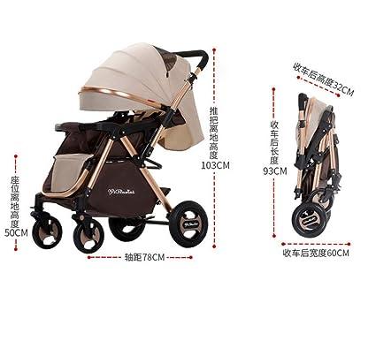 Niñito Cochecito de bebé al Aire Libre Plegable portátil Impermeable ...