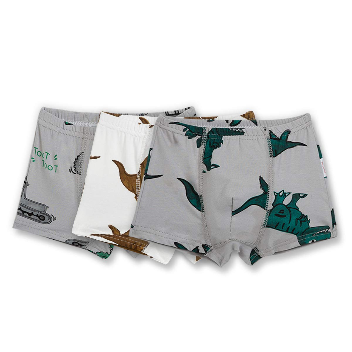 Cczmfeas Boys Underwear Dinosaur Kids Boxer Briefs Cotton Underpants 3 Pack
