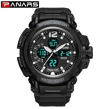 Msxx Reloj de Las Fuerzas Especiales, Militar Mesa táctica multifunción Doble Movimiento Hombres Reloj,