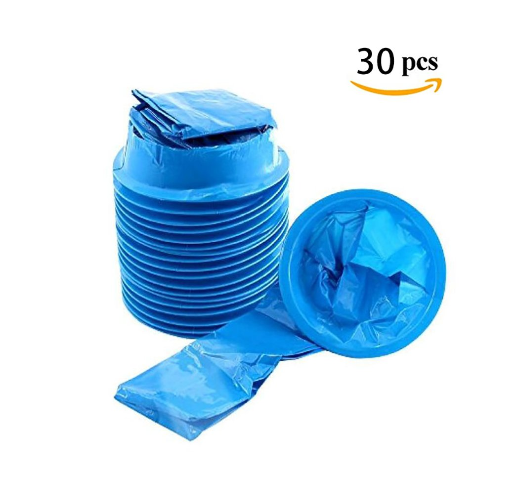 kissmi 30 Pack Blue Emesis Bags,Waste Disposal Bags