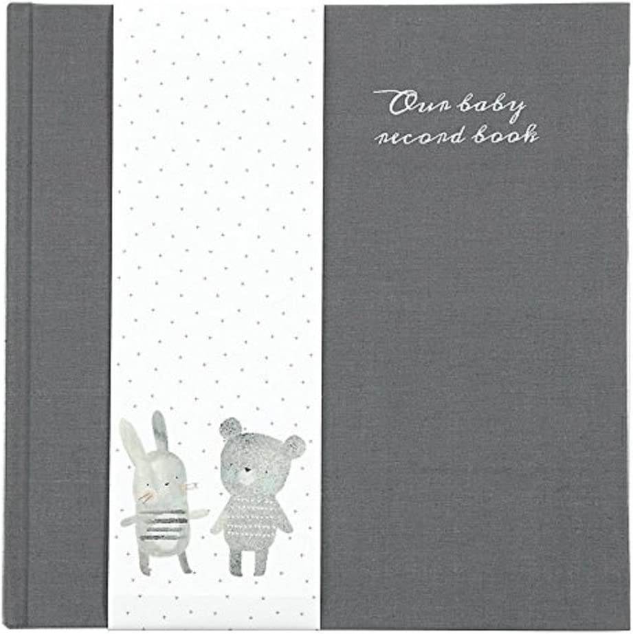 Mamas /& Papas Baby Record Book Heritage Minimalist Unisex Design with Keepsake Envelopes and Monthly Milestones