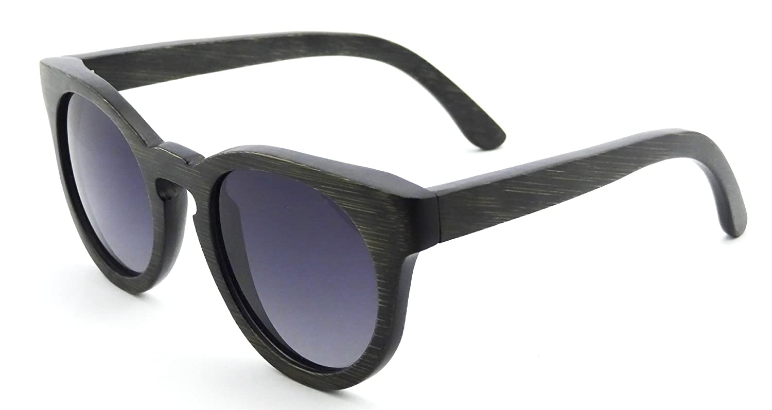 4baa594f332 Amazon.com  Handmade Wood Frame Sunglasses Retro Vintage Wooden Glasses  Polarized with Bamboo Case- Z6011(bamboo black