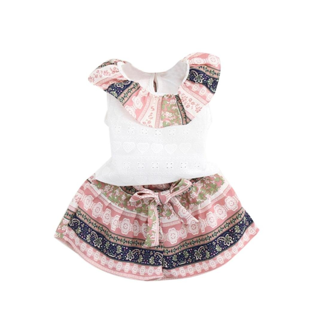 b6dce0fdf Online Cheap wholesale FEITONG 2PCS Toddler Kids Baby Girls Summer Outfit  Clothes Lotus Leaf Vest +Shorts Set Clothing Sets Suppliers