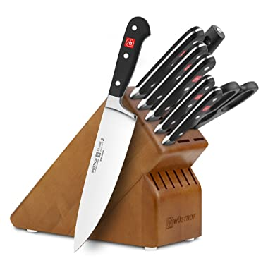 Wusthof Classic 9-piece Cherry Knife Block Set